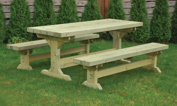 Farm Table & Bench Set