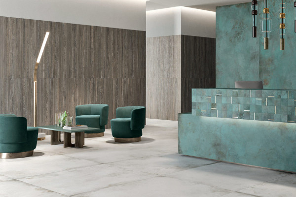 Image displaying Frozen & TC Mint porcelain tiles