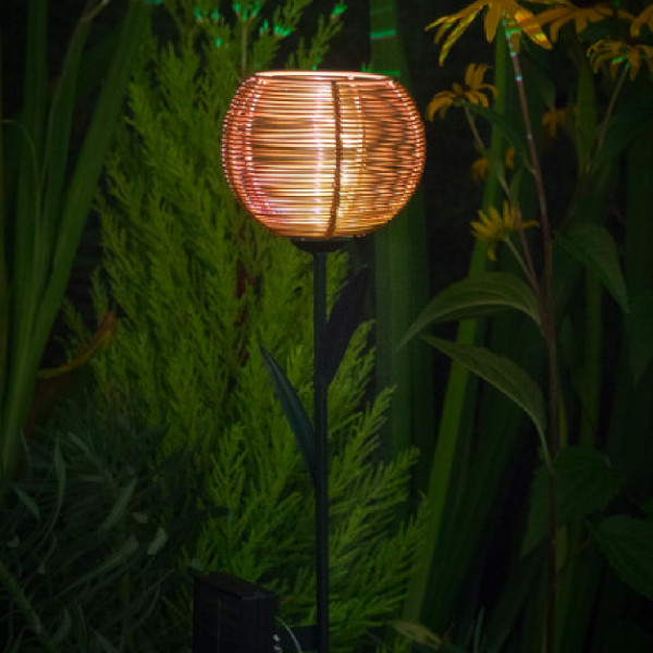 Solar LED Gold Tulip Stake Light