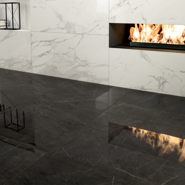 Graphite Lucidato Porcelain Tiles
