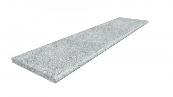Image Displaying Silver Grey Step Tread 2000x500x40mm with a Long Edge Bullnose