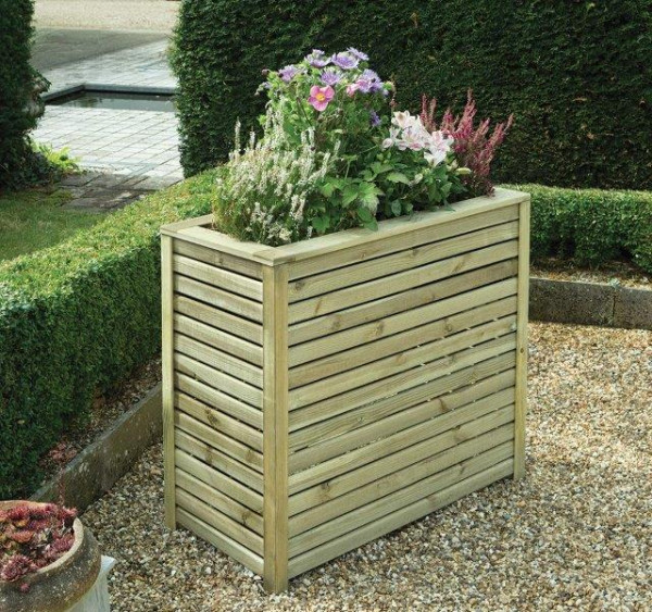 Image displaying Slatted Planter in the following sizes: H 800 x W 400 x L 900mm
