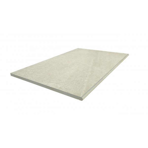 Image displaying 900x600 Ash Beige Step with a 20mm Bullnose Edge