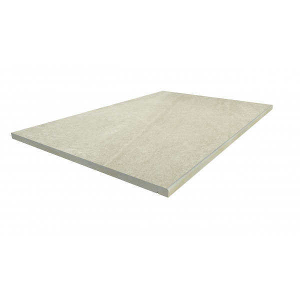 Image Displaying 900x600 Ash Beige Step with a 5mm Pencil Round Edge