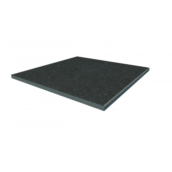 Image Displaying 600x600 Black Basalt Step with a 5mm Pencil Round Edge