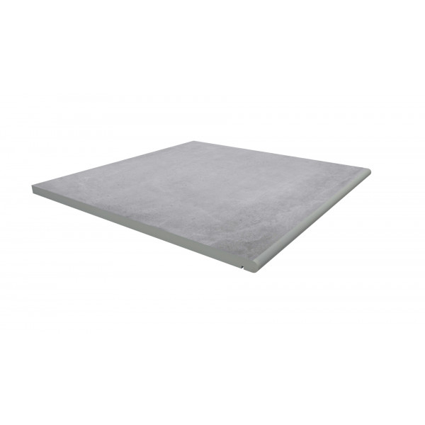 Image Displaying 600x600 Cement Step with a 20mm Bullnose Edge