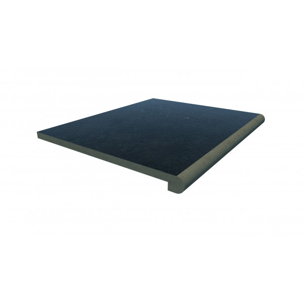 Image Displaying 600x500 Charcoal Step with a 40mm Bullnose Edge