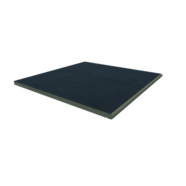 Image Displaying 600x600 Charcoal Step with a 20mm Bullnose Edge
