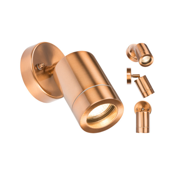 Copper Plated Adjustable Wall Light