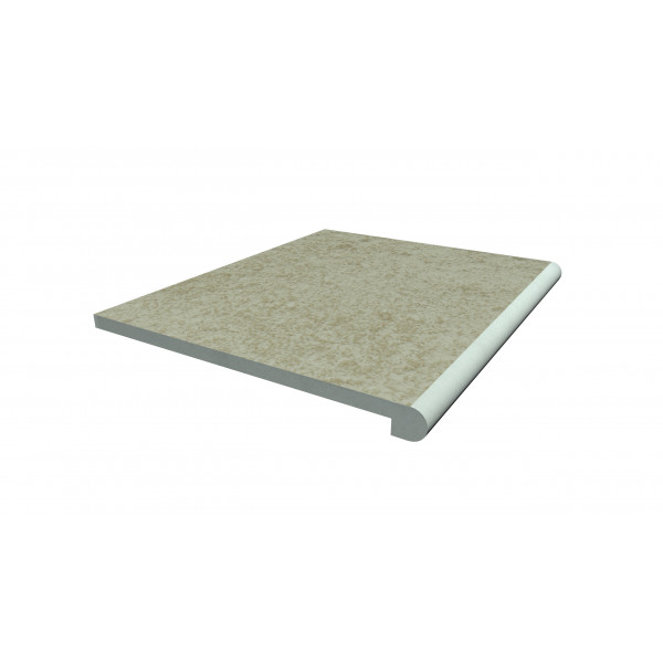 Image Displaying 600x500 Cream Step with a 40mm Bullnose Edge