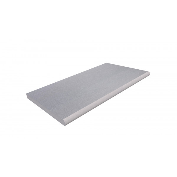 Image Displaying Flamed Grey Step Tread 900x500x40mm with a Long Edge Bullnose