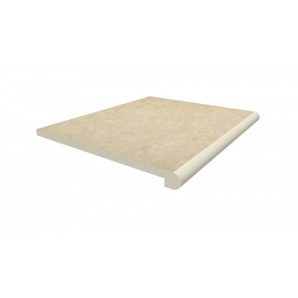 Image Displaying 600x500 Florence Beige Step with a 40mm Bullnose Edge