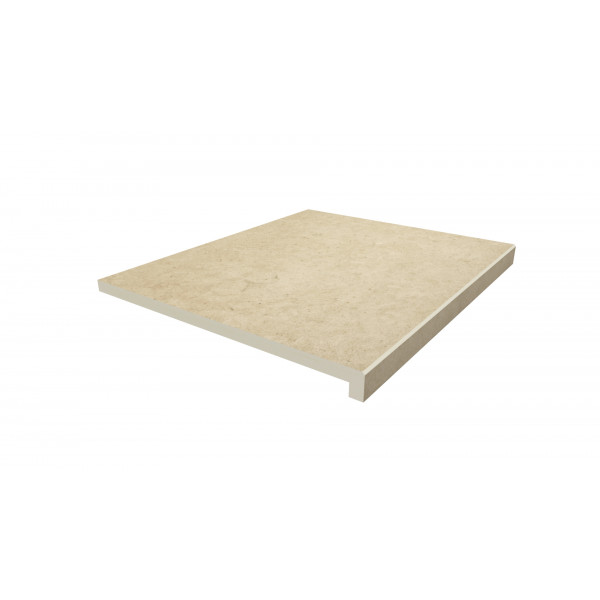 Image Displaying 600x500 Florence Beige Step with a 40mm Downstand Edge