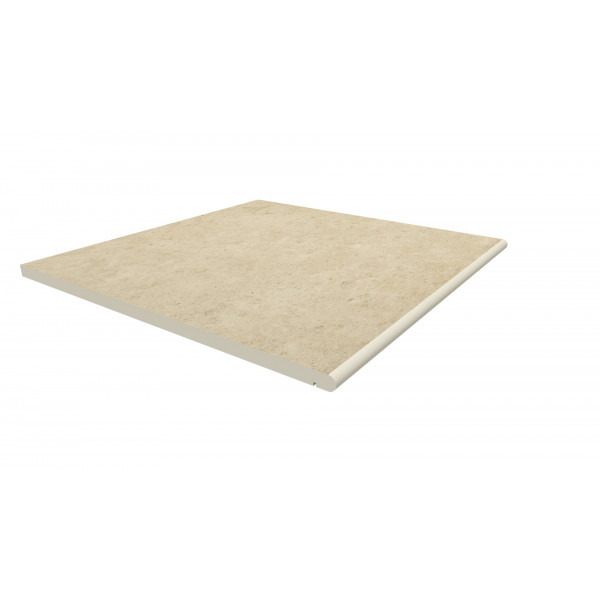 Image Displaying 600x600 Florence Beige Step with a 20mm Bullnose Edge