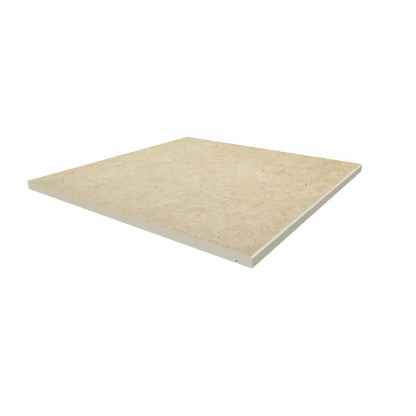 Image Displaying 600x600 Florence Beige Step with a 5mm Chamfer Edge
