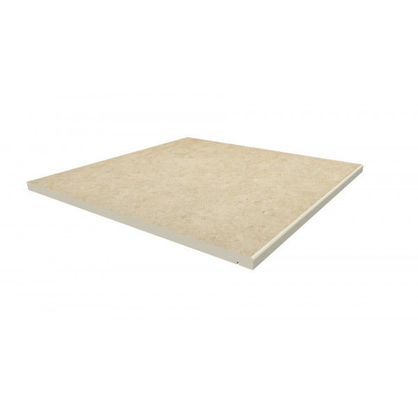 Image Displaying 600x600 Florence Beige Step with a 5mm Pencil Round Edge