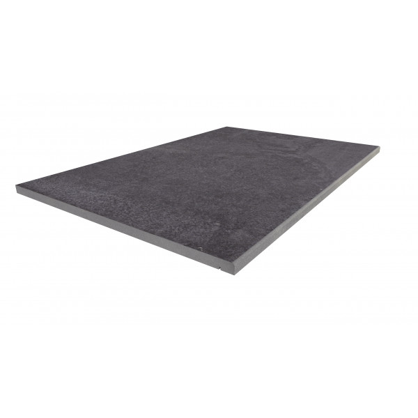 Image Displaying 900x600 Trendy Black Step with a 5mm Pencil Round Edge