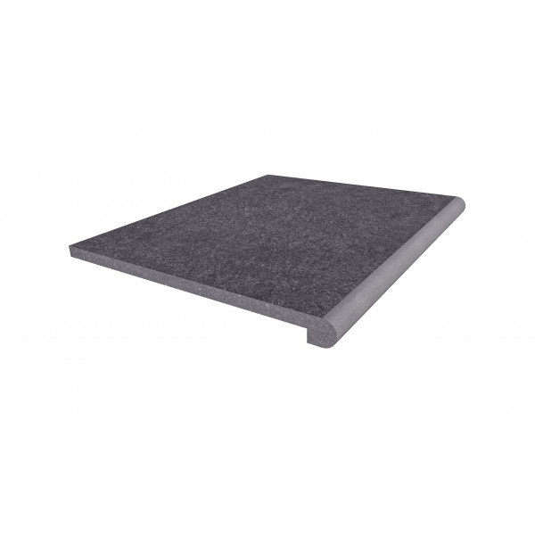 Image Displaying 600x500 Florence Dark Step with a 40mm Bullnose Edge