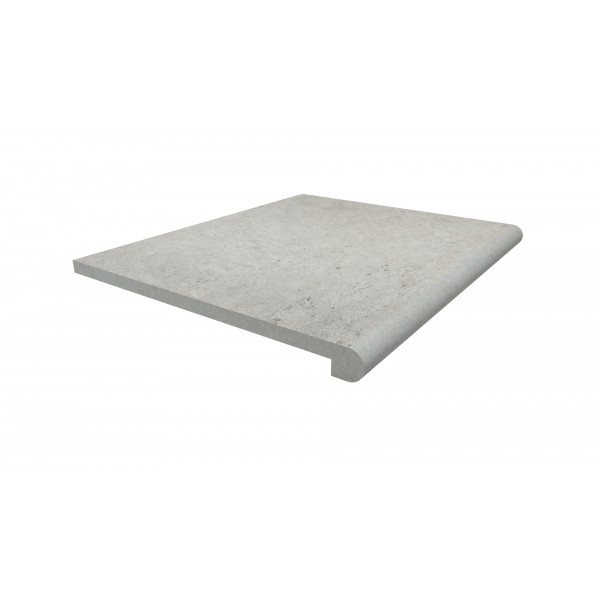 Image Displaying 600x500 Florence Grey Step with a 40mm Bullnose Edge