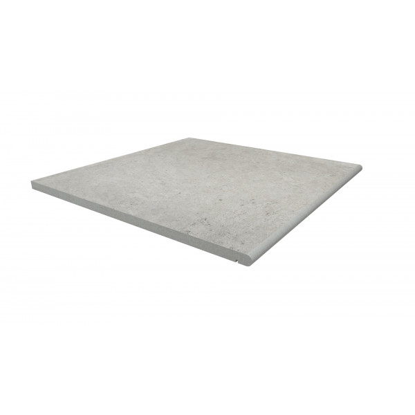 Image Displaying 600x600 Florence Grey Step with a 20mm Bullnose Edge