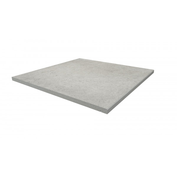 Image Displaying 600x600 Florence Grey Step with a 5mm Chamfer Edge