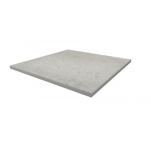 Image Displaying 600x600 Florence Grey Step with a 5mm Pencil Round Edge