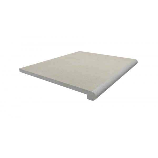 Image Displaying 600x500 Florence White Step with a 40mm Bullnose Edge