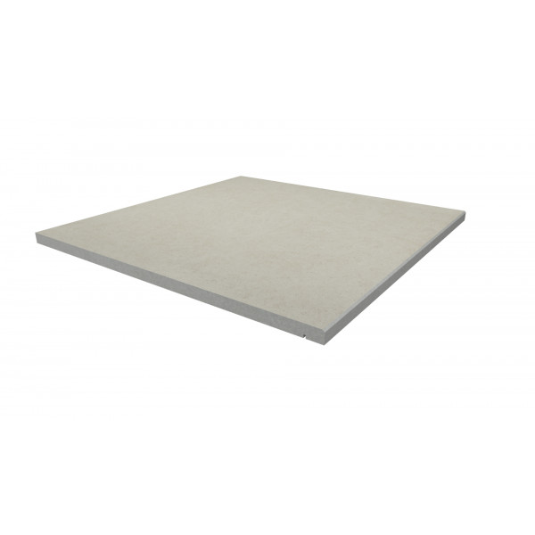 Image Displaying 600x600 Florence White Step with a 5mm Chamfer Edge
