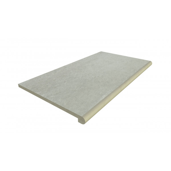 Image Displaying 900x500 Frosty Grey Step with a 40mm Bullnose Edge