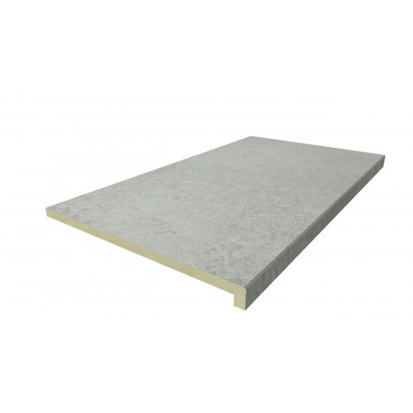 Image Displaying 900x500 Frosty Grey Step with a 40mm Downstand Edge