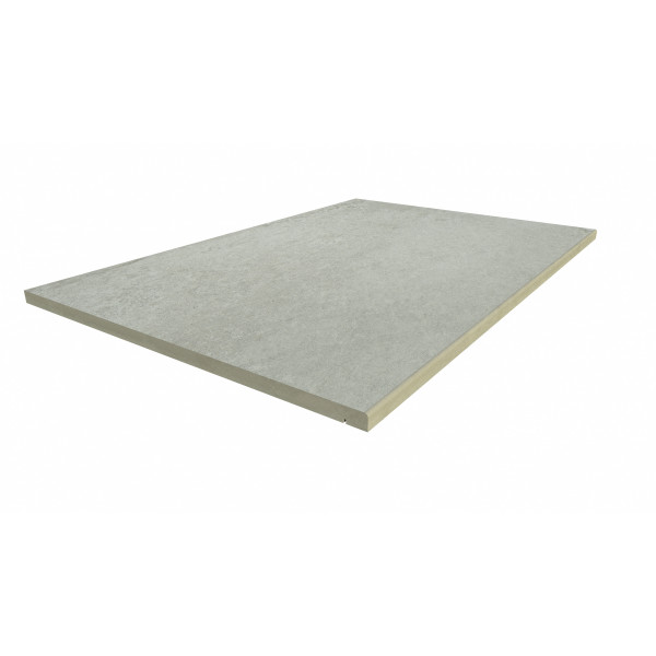 Image Displaying 900x600 Frosty Grey Step with a 5mm Pencil Round Edge
