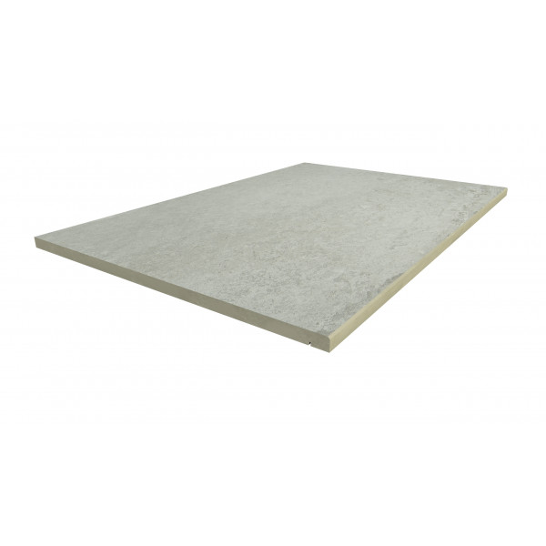 Image Displaying 900x600 Frosty Grey Step with a 5mm Chamfer Edge