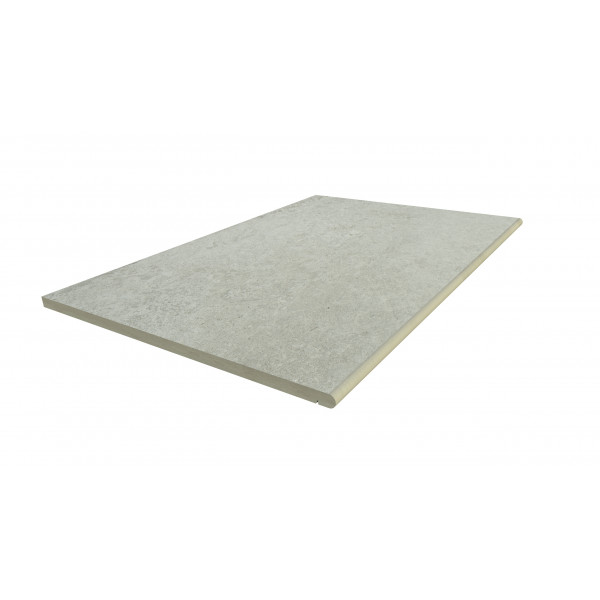 Image Displaying 900x600 Frosty Grey Step with a 20mm Bullnose Edge