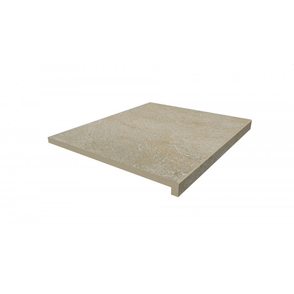 Image Displaying 600x500 Golden Stone Step with a 40mm Downstand Edge