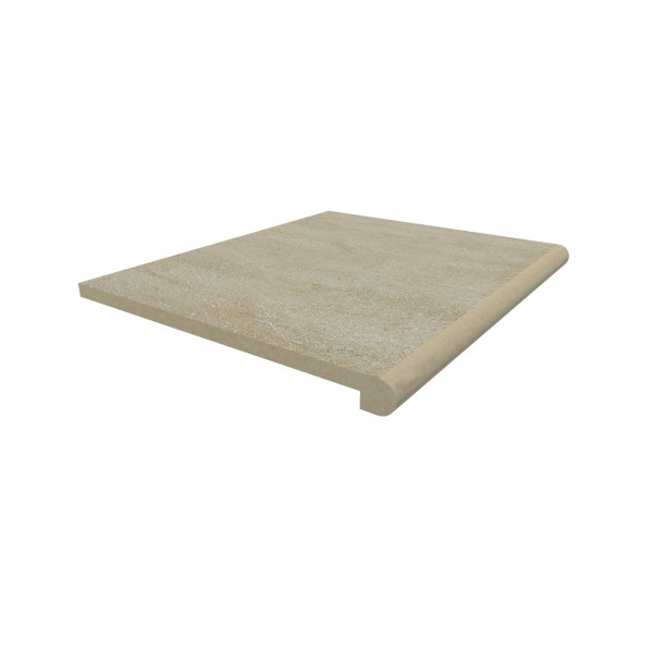 Image Displaying 600x500 Golden Stone Step with a 40mm Bullnose Edge