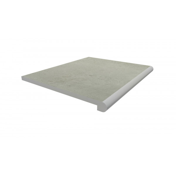 Image Displaying 600x500 Light Grey Step with a 40mm Bullnose Edge