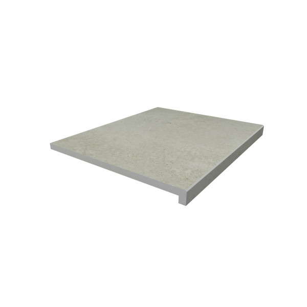 Image Displaying 600x500 Light Grey Step with a 40mm Downstand Edge