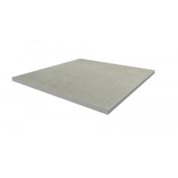 Image Displaying 600x600 Light Grey Step with a 5mm Chamfer Edge