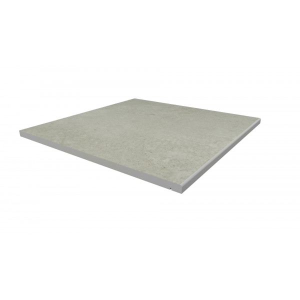 Image Displaying 600x600 Light Grey Step with a 5mm Pencil Round Edge