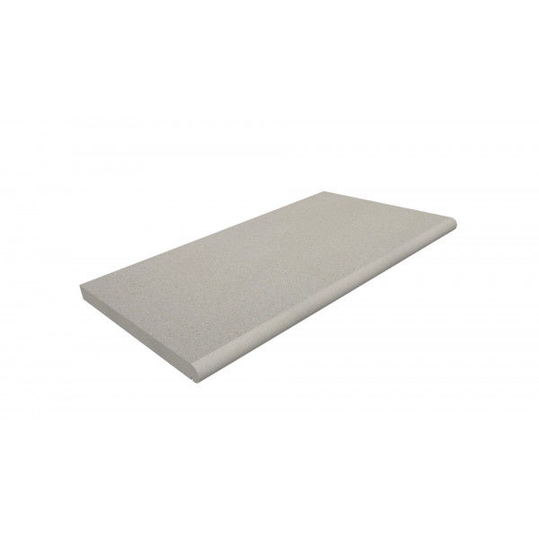 Image Displaying Light Grey Step Tread 900x500x30mm with a Long Edge Bullnose
