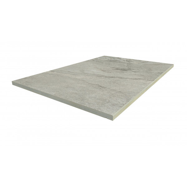 Image Displaying 900x600 Marble Grey Step with a 5mm Chamfer Edge