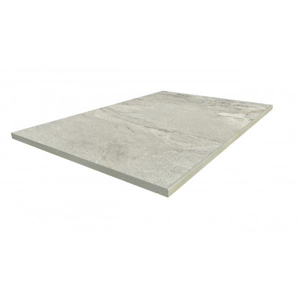 Image Displaying 900x600 Marble Grey Step with a 5mm Pencil Round Edge