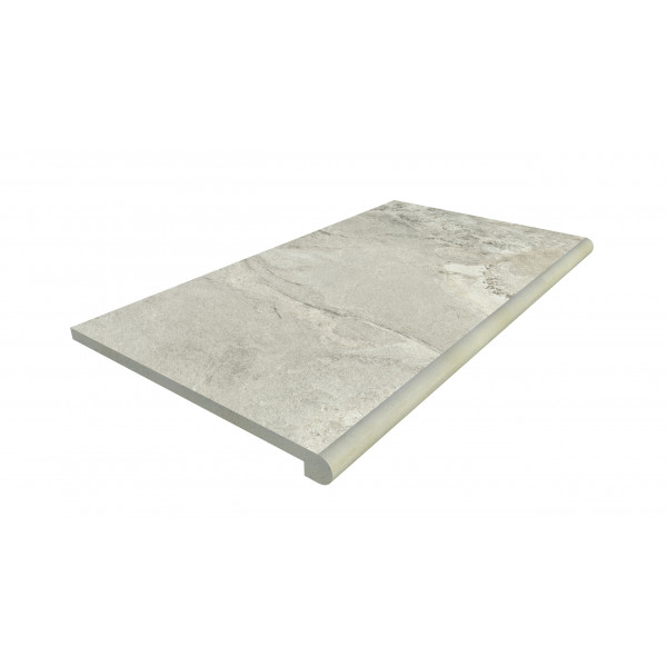 Image Displaying 900x500 Marble Grey Step with a 40mm Bullnose Edge