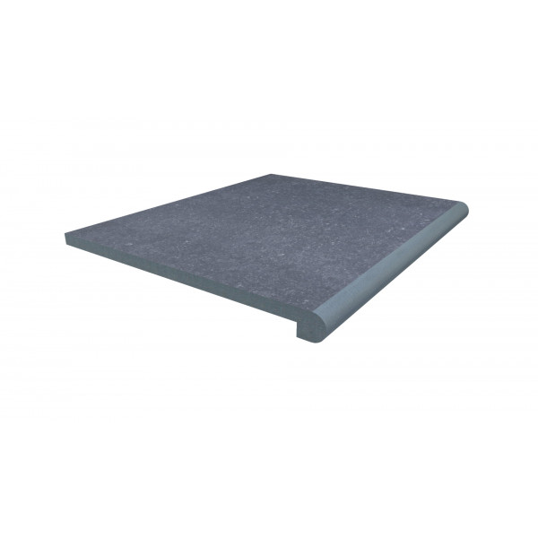 Image Displaying 600x500 Pierre Blue Step with a 40mm Bullnose Edge