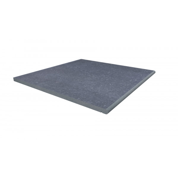 Image Displaying 600x600 Pierre Blue Step with a 20mm Bullnose Edge