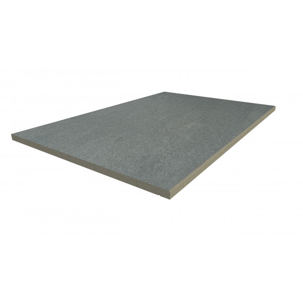 Image Displaying 900x600 Platinum Grey Step with a 5mm Pencil Round Edge