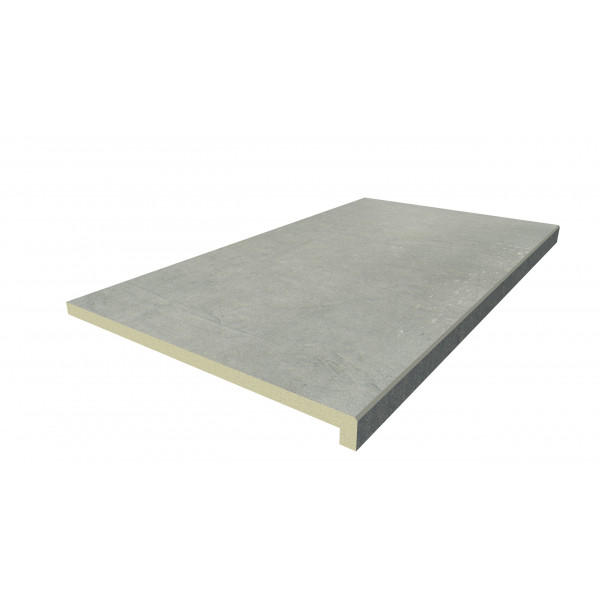 Image Displaying 900x500 Polished Concrete Step with a 40mm Downstand Edge