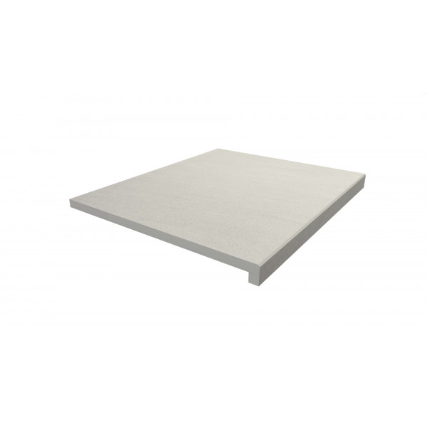 Image Displaying 600x500 Sandy White Step with a 40mm Downstand Edge