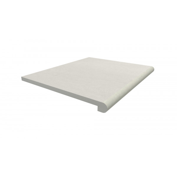 Image Displaying 600x500 Sandy White Step with a 40mm Bullnose Edge