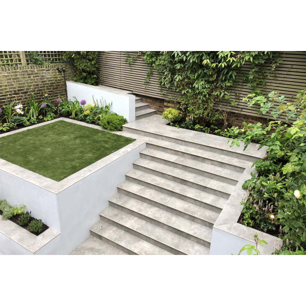 Silver Contro Porcelain 20mm Bullnose Step
